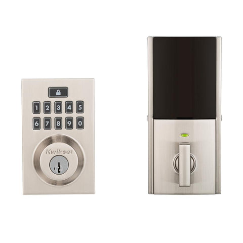 Kwikset 914 SmartCode Contemporary Electronic Deadbolt with Z-Wave 99140-019 Satin Nickel, - Wholesale Home Improvement Products