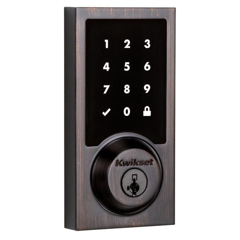 Kwikset SmartCode 916 Modern Contemporary Touchscreen Smart Lock Deadbolt Smart Key Security and Z-Wave Plus - Wholesale Home Improvement Products