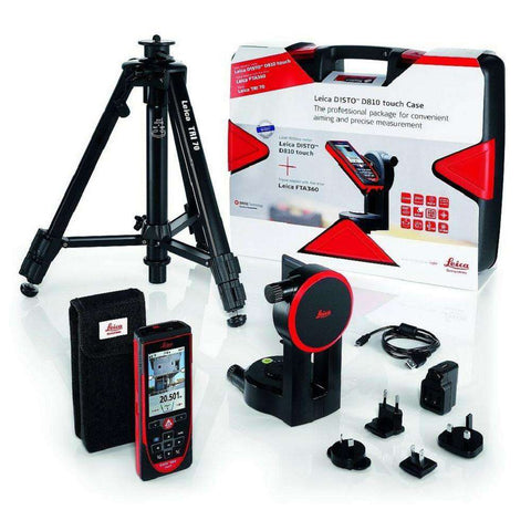 Leica - DISTO D810 Touch 650 ft. Laser Distance Measurer Pro Pack