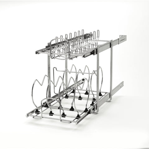 Rev-A-Shelf 5CW2-1222-CR / 12 in Two-Tier Cookware Organizer