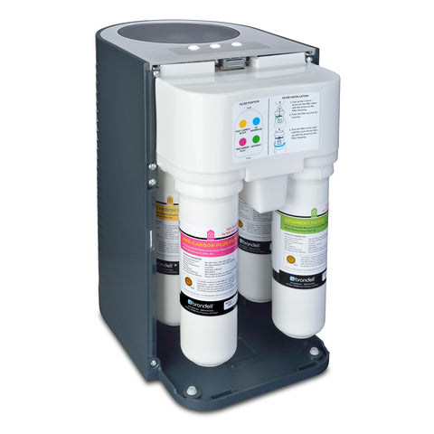 Brondell H2O+ Circle Reverse Osmosis Under Counter Water Filtration System in Slate - Wholesale Home Improvement Products