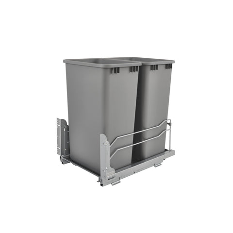Rev-A-Shelf 53WC-2150SCDM-217 / Double 50 Qrt Pull-out Waste Container Soft-Close