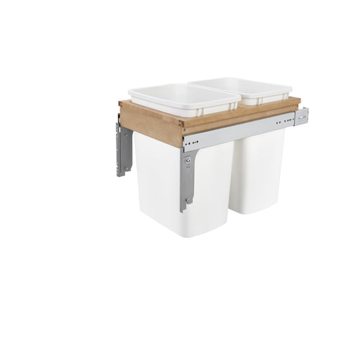 "Rev-A-Shelf 4WCTM-18DM2 / Double 35 Qrt Top mount Waste Container  (1-1/2"" faceframe)"