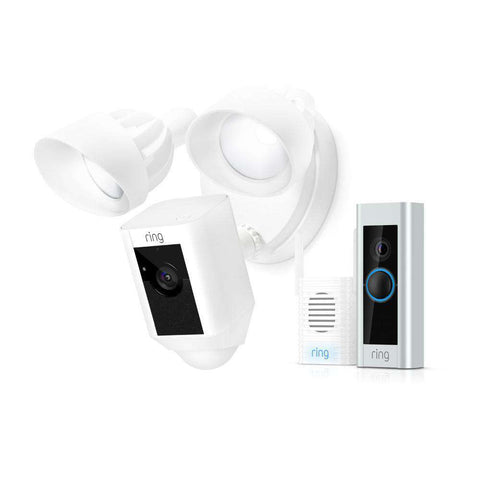 Ring Video Doorbell Pro with Chime Pro with Floodlight Camera