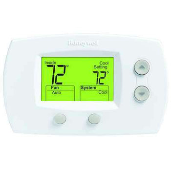 Honeywell - TH5220D1029 Focuspro 5000 Non-Programmable 2 Heat and 2 Cooling Thermostat - Wholesale Home Improvement Products