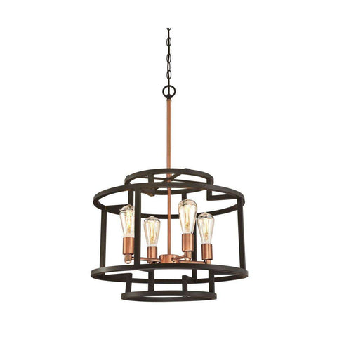 Westinghouse  - Weston Four-Light Indoor Chandelier - Oil Rubbed Bronze