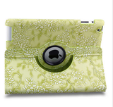 iPad 2, 3, 4, iPad Air 2, Mini:ALL - Floral Embossed, Padded 360° Rotating Case in Assorted Colors