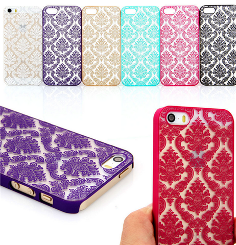 iPhone 7 Plus /7, 6/6S Plus /6/6S,  SE - Delicate Damask Lace Design Case in Assorted Colors