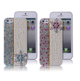 iPhone SE / 5/5S - Delicate Rhinestone Pearl Bling Winter Case in Assorted Colors