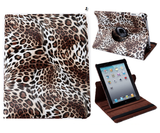 iPad 2, 3, 4-ALL - Sizzling Leopard, 360° Rotating, Sleep/Wake Function Case in Assorted Colors