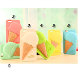 iPhone 6/6S Plus, 6/6S, 5/5S - Yummy Pastel Summer Ice Cream Case in Assorted Colors