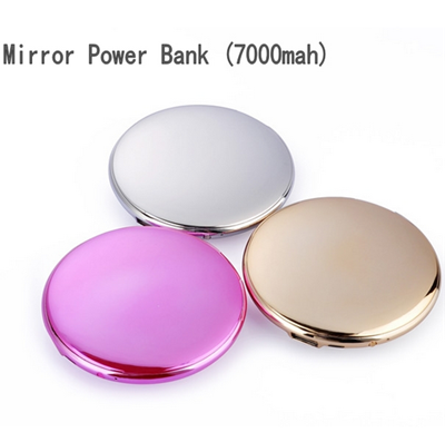 Glossy Compact Mirror Power Bank for Most Phones & Tablets in Assorted Colors