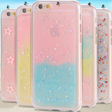 iPhone 6 Plus, 6 - Cotton Candy Fairy Dust & Glittering Stars Clear Case in Assorted Colors