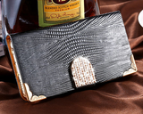 iPhone 6 Plus, 6, 5/5S - Stunning Leather Feel With Bling Tab & Border in Assorted Colors