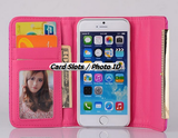 iPhone 6 Plus, 6, 5/5S - Cushioned Elegance Wallet Fold Case in Assorted Colors