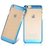 iPhone 6S Plus, 6S, 6 Plus, 6 - Aerodynamic Clear Case, Colored Frame in Assorted Colors