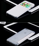iPhone 6/6S Plus, 6/6S - Elegantly Thin, Flip Window with Clear Back in Assorted Colors