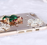 iPhone 6 Plus, 6 - Christmas Santa Stocking & Bells Clear Case