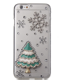 iPhone 6/6S Plus, 6/6S, 5/5S - Evergreen Fir Christmas Tree With Snowflakes Clear Case