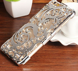 iPhone 6 Plus, 6, 5/5S - Delicate Swirling Vines Carved Frame in Assorted Colors