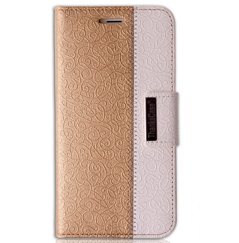 iPhone 6 Plus, 6 - Dressy, Dual-Color Textured Wallet Case in Assorted Colors