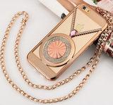 iPhone 6/6S, 6/6S Plus, 5/5S - Necklace Glam Frame Carry Case in Assorted Colors