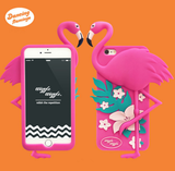 iPhone 6/6S, 6 Plus, 5/5S - Spring Time Flamingo & Flowers in Assorted Colors