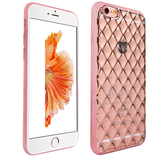 iPhone 6/6S, 6/6S Plus - Diamond Grid, Soft Transparent Case in Assorted Colors