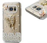 Galaxy S7 - Gorgeous Golden Owl OR Pearl Lace Butterfly Case