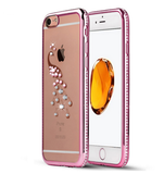 iPhone 7, 7 Plus - Sweet Serenity Swan OR Peacock Rhinestone Case in Assorted Colors
