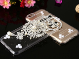 iPhone 6/6S, 6/6S Plus - Sparkling Crystal Gem, Pearl Clear Case in Assorted Designs