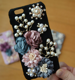 iPhone 7, 7 Plus, 6/6S /Plus - Exquisite Flowers, Pearls, Rhinestones Blooming in Assorted Colors