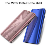 Note 9, 8, S9 Plus, S9, S8 Plus, S8 - Modern Mirror Style Flip Wallet Case in Assorted Colors