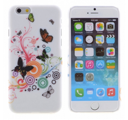 iPhone 5/5S - Colorful Butterflies Soft Comfy Grip Case