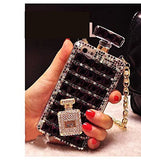 iPhone 6/S Plus, 6/S, 5/5S- Stunning Gem Perfume Bottle Case in Assorted Colors