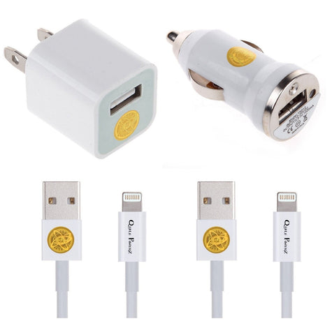 Must-Have, Multi-Pack Home & Car Charger 8-pin Set for Newer iPhone Models
