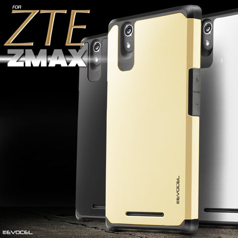 ZTE ZMAX - Sharp Protective Hybrid Case in Assorted Colors
