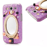 Galaxy S3 - Glimmering Magic Mirror Makeup Silver or Purple Case