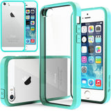 iPhone SE, 5/5S - Crystal Clear, Rugged Case With Assorted Colors Frame