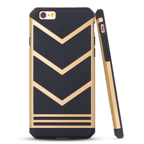 iPhone 6/6S, 6/6S Plus - Elegantly Detailed V-Line Dual Texture Case in Assorted Colors