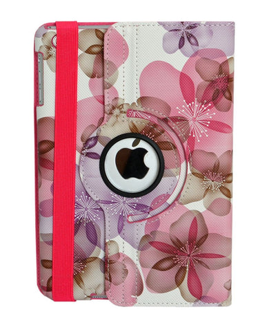 iPad Mini All - Subtle Floral, 360 Degree With Sleep/Wake Function & Strap Case  in Assorted Colors