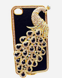 iPhone 4/4S *RED TAG* - Stunning 3D Black Peacock Detailed with Gold & Rhinestones
