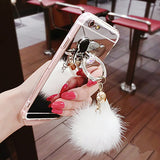 iPhone X, 8 Plus/8, 7 Plus/7 - Mirror Pom Pom & Tassel Case in Assorted Colors