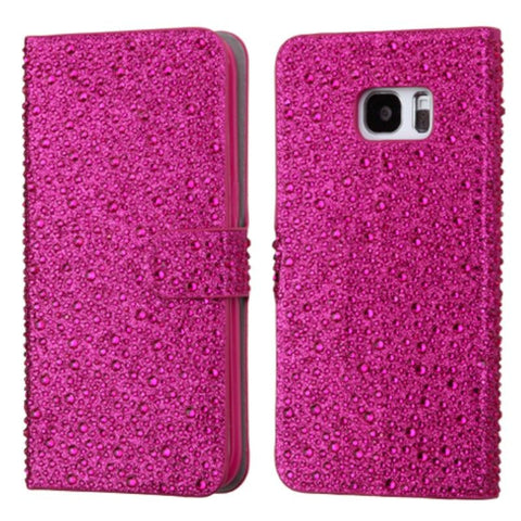 Galaxy S7, S7 Edge - Brilliant Jewel Raindrops Wallet Case in Assorted Colors