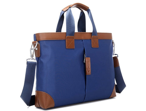 "Gorgeous Blue and Tan Shockproof Shoulder Bag for 13"" to 14.1""  Laptops"