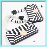 iPhone 6 Plus, 6 - Cosmopolitan Black/White  Wristlet Case in Assorted Designs