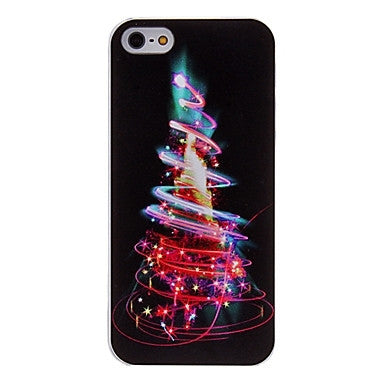 iPhone SE / 5/5S - Christmas Tree Neon Lights OR Jolly Snowman Case