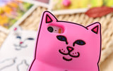 iPhone 6/6S Plus, 6/6S, SE, 5/5S - Fresh, Cute Cat Soft Case in Assorted Colors