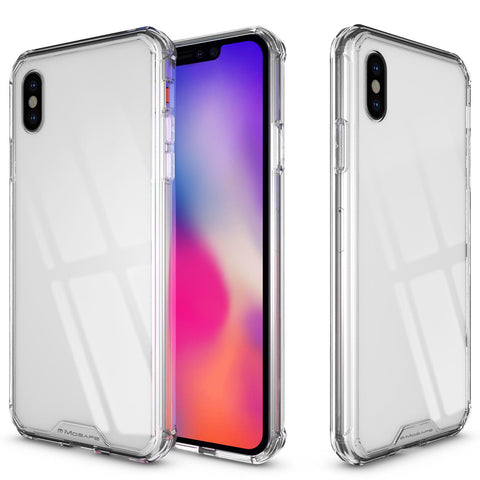 iPhone X/XS, XS Max, XR Full Body Clear Case in Clear and Pink