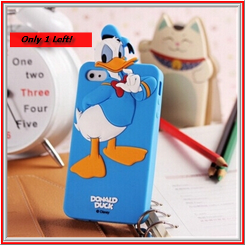 iPhone 5/5S *RED TAG* - Cute, Colorful Donald Duck Soft Blue Case